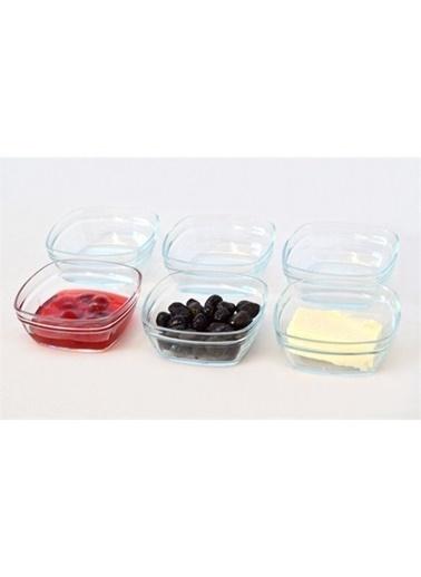 Paşabahçe Paşabahçe 53662 puddin kase - cam kase 6 lı Renkli